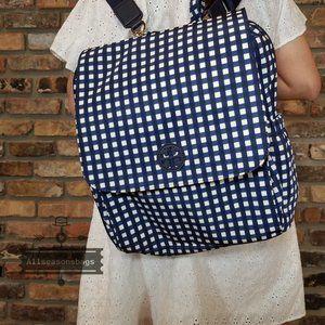 Tory Burch Plaid Checkered Navy Backpack Diaper